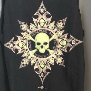 Skull 💀 pirate cove compass  shirt vintage xl